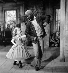 "Shirley Temple and Bill ""Bojangles"" Robinson in the Littlest Rebel"