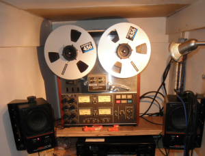 Phil's TEAC 3340 tape recorder today