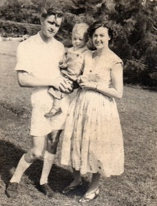 DNL with his father and mother, 1956