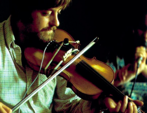 Dave Swarbrick in 1969 rehearsing with Fairport Convention for the groundbreaking album, Leige and Lief
